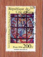 REP. DE COTE-D'IVOIRE  --  VITRAIL  --  **  200  F.  ** --POSTE 1994  -- TBE - Ivory Coast (1960-...)
