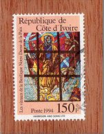 REP. DE COTE-D'IVOIRE  --  VITRAIL  --  **  150  F.  ** --  POSTE 1994  -- TBE - Ivory Coast (1960-...)