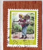 REP. DE COTE-D'IVOIRE  --  FEMME  A   LA  HOTTE  --  **  40  F.  ** --  POSTE 1994  -- TBE - Ivory Coast (1960-...)