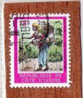 REP. DE COTE-D'IVOIRE  --  FEMME  A   LA  HOTTE  --  **  75  F.  ** --  POSTE 1994  -- TBE - Ivory Coast (1960-...)