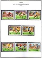 Liberia - 11th World Cup Soccer Championship - 1974 - Serie Completa - Usata - In Cartella - Coppa Del Mondo