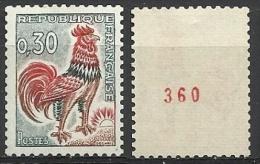 France 1962: Superbe N° 1331Ab N° Rouge Au Verso - Coil Stamps