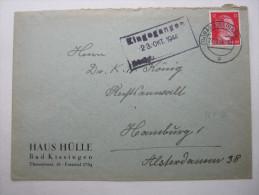 1944, (13a) BAD KISSINGEN , Klarer PLZ - Stempel Auf Brief - Deutschland
