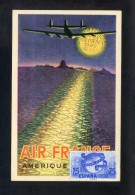 Ilustrador: Vasarely, Victor. *Serie Air France Año 1948* Matasello De Favor Español 1949. - Illustrateurs & Photographes