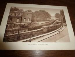 Photo Ancienne  Grand Format :    UN TRAIN DU METROPOLITAIN - Plaatsen