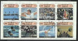 Oman 1984 Sport, Olympics, Perf.block, Used AI.043 - Oman