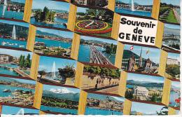 CPSM Souvenir De Geneve - Carte Multi-vues - 1968 (6318) - GE Geneva