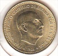 ESPAÑA 1966 .ESTRELLAS 19-71  1 PESETA FRANCO.SIN   CIRCULAR. CN 4029 - 1 Peseta