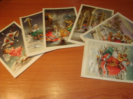 Christmas Artist Signed MNG Colorful  Unusual Postcards,  Carte Postale   Cpa Ak Old - Navidad