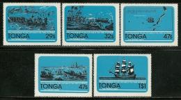 """Tonga       """"Ship""""     Set   SC# 497-01   MNH** - Ships"""