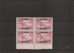 RuandaUrundi ( 87 en bloc de 4 XXX -MNH)