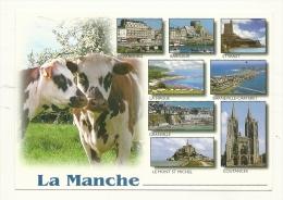 Cp, 50, La Manche, Multi-Vues, Voyagée 2003 - France