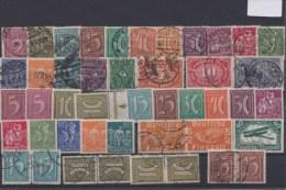 D. Reich, INFLA, BESSERES Lot, Gestempelt Und **.  MK - Deutschland