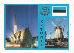 Cp, Estonie,Tallinn, Multi-Vues, écrite - Estonie