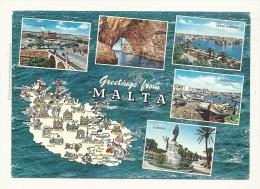 Cp, Malte, Multi-Vues, Voyagée 1981 - Malte