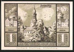 Billet De Nécessité Jever In Oldenburg, 1 Mark, Stadtwappen, Châteaumotiv