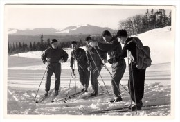 Suède - Photo Originale - Equipe D´Italie De Ski De Fond - Format 14.5 X 9.7 Cm - Sport