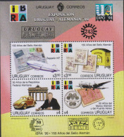 G)1998 URUGUAY, GRAF ZEPELLIN FFC-MAIL BOX-CAR-FRIED RICHS HAFEM-AIRPLANE-COIN-SATMP , URUGUA-GERMANY EXPOSITION ´98, S/ - Uruguay