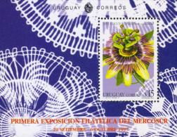 G)1997 URUGUAY, MIBURUCUYA FLOWER, FIRST PHILATELIC EXHIBITION MERCOSUR, S/S, MNH - Uruguay