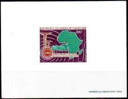 MAURITANIA /MAURITANIE 1967. EPREUVE DE LUXE. Postal & Telecommunications African Union - Mauritania (1960-...)