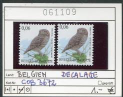 Buzin - Belgien - Belgique -  Belgium - Belgie - Michel 3720 - COB 3672 Im Paar  DECALAGE  - ** Mnh Neuf Postfris - Abarten Und Kuriositäten