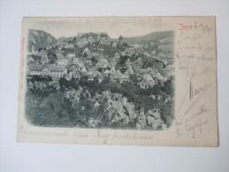 Ansichtskarte 1901 Jajce Österreich / Bosnien Herzegowina Gesendet Nach Trieste. Panorama Ansicht - Bosnien-Herzegowina