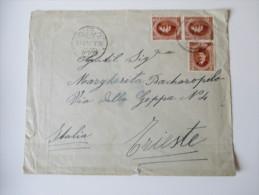 Ägypten Mehrfachfrankatur 1924 Gesendet Nach Triest. Hotel Pension Louise Abbazia - Ägypten