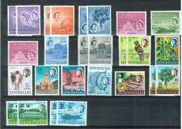 Seychellen -  FM Queen Elisabeth II. 1954 - 1965 (*/**/MH /MNH O) LOT - Seychellen (...-1976)