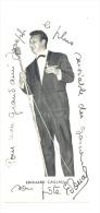 Photo Dédicacée  (+/- 7 X 15 Cm) De L'humoriste Edouard Caillau, Artiste, Spectacle, RTBF (sf96) - Beroemde Personen