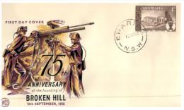 (008) Australia FDC Cover 1958 - Broken Hill - FDC