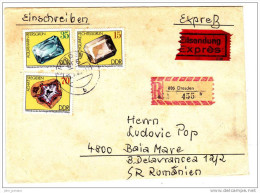 [A] Enveloppe Circulated Cover RDA DDR Eastern Germany Minéral Mineral Recommandé Exprès Registered - FDC: Enveloppes