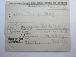 1947, Prisonnier De Guerre, Lager 121  St.Paul D`Eyjeaux, Carte  A Allemagne - Marcophilie (Lettres)