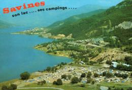 SAVINES LE LAC - Campings : G.C.U. - St Ouen - C.C.A.S. - Municipal ; Au Fond , Le Village - Edit: Cellard - France