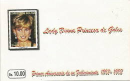 Bolivia 1998 Mining Anniversary Death Priness Of Wales Diana Special Stamp Booklet. Rare - Bolivië