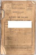 Livret De Solde Marin Marine Quimper 29 Finistère 1914 - Historische Documenten