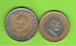 TURQUIA = 1 LIRA + 50 KURUS BIMETAL - Turquia