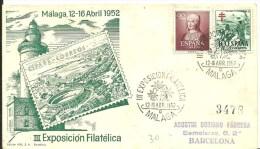MAT.1952 MALAGA - 1951-60 Cartas