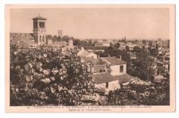 CP, 44, CLISSON, Vue D'ensemble, A Gauche Clocher Notre-Dame, Au Fond à Droite Eglise De La Trinité..., Vierge - Clisson