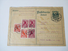 Österreich 1933 Ganzsache P 284 A  Antwortkarte Mit Zusatzfrankatur Nach Triest. - Entiers Postaux