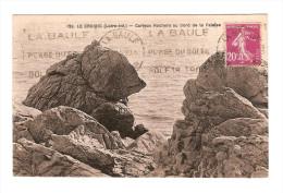 44 LE CROISIC / NOUNOURS - LE ROCHER De L´OURS / CPA Chapeau N° 129 Curieux Rocher / Circulée 1935 / Flamme La Baule / T - Le Croisic