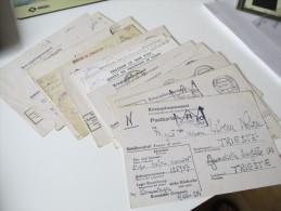 Kriegsgefangenpost 1944/45 Prisoner Of War 13 Belege Verschiedene Stammlager Alle Gesendet Nach Triest! Doppelkarte Usw. - Trieste
