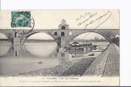 1 Cpa Avignon Pont Saint-Bénézet. Bateau-lavoir. Cliché Remarquable Par Sa Netteté - Avignon