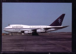 AK KINSHASA- Boeing B747-SP-09    Karte Nicht Gel.