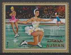 Ajman 1970 Mi 663 A ** Figure Skating / Eiskunstlauf / Patinage Artistique / Kunstschaatsen / Pattinaggio Di Figura - Kunstschaatsen