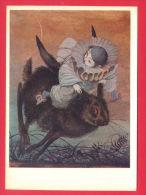 145308 / Russia Art  Aleksandr Arnoldovich Koshkin -  RABBIT , Pierrot , Burattino The Golden Key ( Grimm Fairy Tales ) - Fairy Tales, Popular Stories & Legends