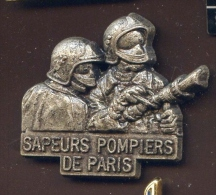 """""""  Sapeurs Pompiers De PARIS Lance. """"  Métal   Vert Pg15 - Bomberos"""