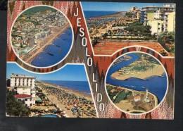 J17 Jesolo Lido ( Venezia, Veneto ) Vedute Con Spiaggie, Beach, Plage, Strand - Uysed - Ed. Favalli - Altre Città