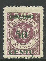 German Occupation 1923 Lithuania Litauen Lietuva Memel Klaipeda Michel 173 * - Lithuania