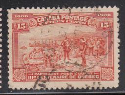Canada Used Scott #102 15c Champlain´s Departure - Quebec Tercentenary - 1903-1908 Règne De Edward VII