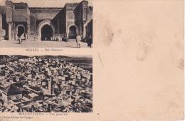 CPA Meknès - Bab Mansour - Moulay-Idriss - Vue Générale  (6345) - Meknes